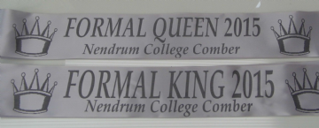Formal Ball Sashes Personalised